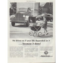 "1948 American Trucking Industry Ad ""if your life depended on it"""