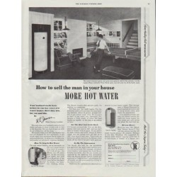 "1948 Rheem Ad ""More Hot Water"""