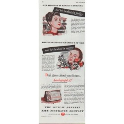 "1948 Mutual Benefit Life Insurance Company Ad ""Her Husband"""