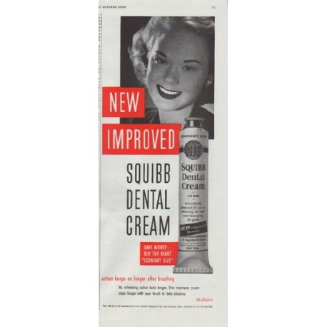 """1948 Squibb Ad """"New Improved"""""""