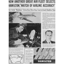 "1937 Hamilton Watch Ad ""Great Air Fleet"""