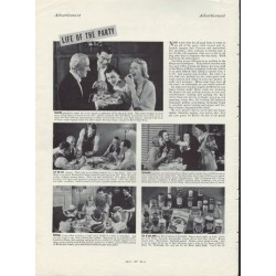 "1937 Heinz 57 Varieties Ad ""Life Of The Party"""