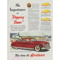 """1948 Hudson (1949 model year) Ad """"The Importance of """"Stepping Down"""""""""""