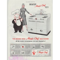 "1948 Magic Chef Ad ""Greatest Magic Chef Yet!"""