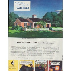 "1948 National Gypsum Company Ad ""Gold Bond"""