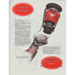 "1948 Household Finance Corporation Ad ""In Case Of Emergency"""