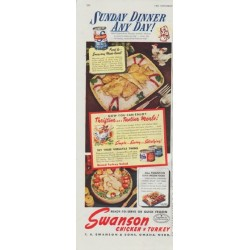 "1948 Swanson Ad ""Sunday Dinner Any Day!"""