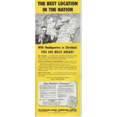 "1948 Cleveland Electric Illuminating Company Ad ""Best Location"""