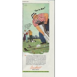 "1948 Acushnet (Titleist) Golf Balls Ad ""The Little Woman"""
