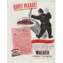 "1948 Walker Exhaust Silencer Ad ""Quiet Please!"""