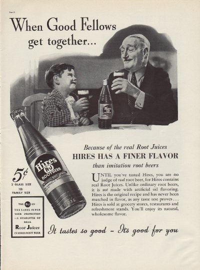 1937 Hires Root Beer Ad Quot Good Fellows Quot