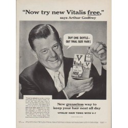"1954 Vitalis Ad ""Buy One Bottle"""