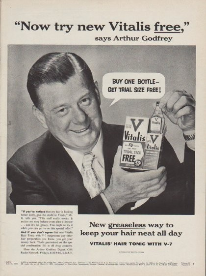 1954 Vitalis Vintage Ad Quot Buy One Bottle Quot