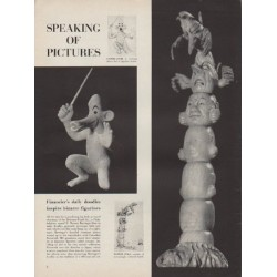 "1954 D. Moreau Barringer Article ""bizarre figurines"""
