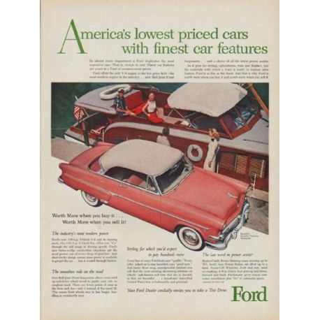 "1954 Ford Ad ""America's lowest priced cars"""