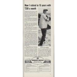 "1954 Phoenix Mutual Ad ""How I retired in 15 years"""