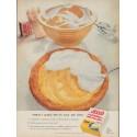"1954 Jell-O Ad ""Perfect Lemon Pies"""