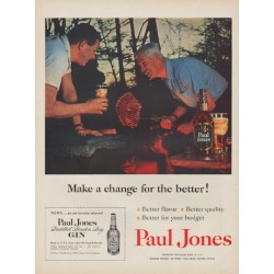 "1954 Paul Jones Ad ""Make a change"""
