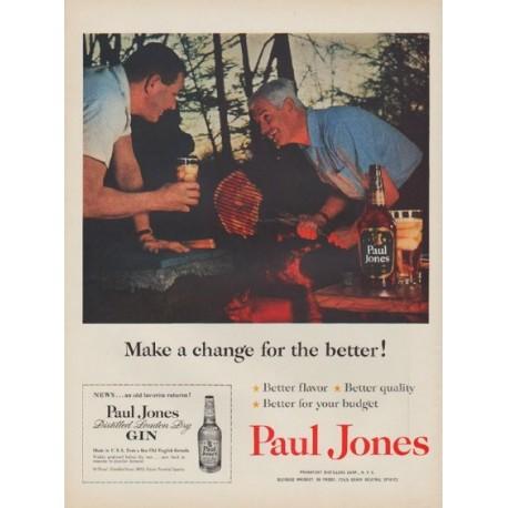 "1954 Paul Jones Ad ""Make a change"""