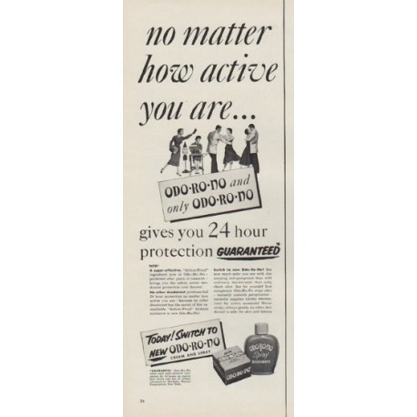 "1954 Odo-Ro-No Ad ""no matter how active you are"""