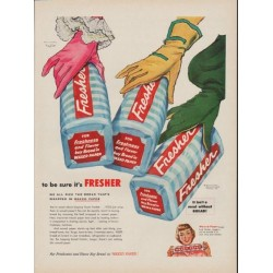 "1954 Waxed Paper Ad ""to be sure it's Fresher"""