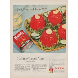 "1954 Hunt's Tomato Sauce Ad ""Quick Stunts"""