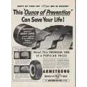 "1954 Armstrong Tires Ad ""Ounce of Prevention"""