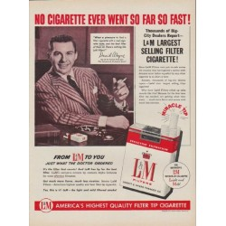 "1954 L&M Cigarettes Ad ""No Cigarette Ever Went So Far"""