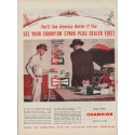 """1954 Champion Spark Plugs Ad """"See America"""""""