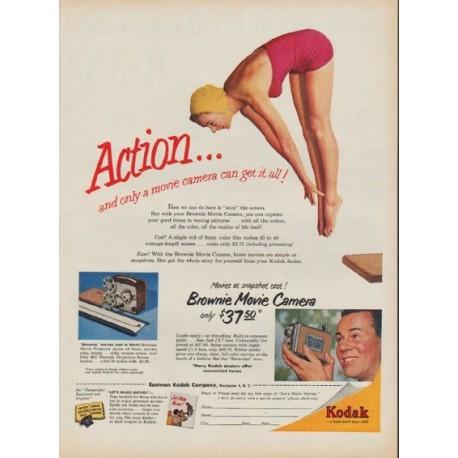 """1954 Kodak Ad """"Action ..."""""""