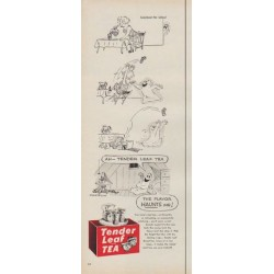 "1954 Tender Leaf Tea Ad ""The Flavor Haunts Me!"""