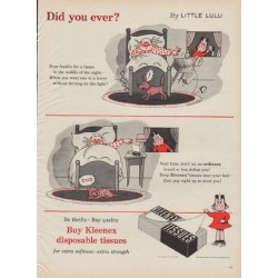 "1954 Kleenex Tissues Ad ""Did you ever?"""