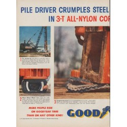 "1954 Goodyear Tires Ad ""Pile Driver"""