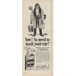 "1954 BODYSHEEN Ad ""No need to wash your car!"""