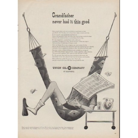"1954 Union Oil Company Ad ""Grandfather"""