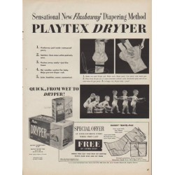 "1954 Playtex Ad ""Flushaway Diapering Method"""