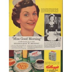 "1954 Kellogg's Ad ""Miss Good Morning"""