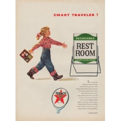 "1954 Texaco Ad ""Smart Traveler"""