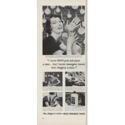 "1954 Jergens Lotion Ad ""4500 pots"""