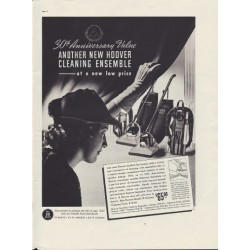 "1937 Hoover Cleaning Ensemble Ad ""30th Anniversary"""