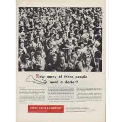"1954 Parke, Davis & Company Ad ""these people"""