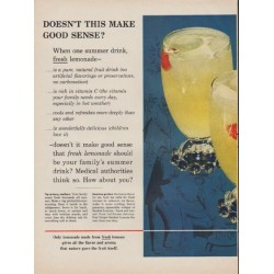 "1954 Sunkist Ad ""Good Sense"""