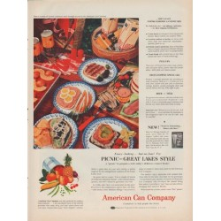 "1954 American Can Company Ad ""Great Lakes Style"""