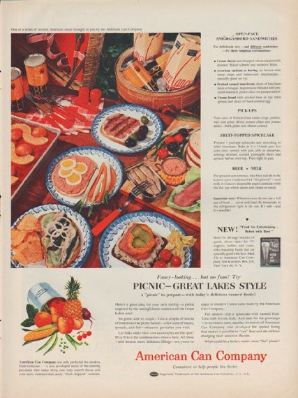 1954 American Can Company Vintage Ad Quot Great Lakes Style Quot