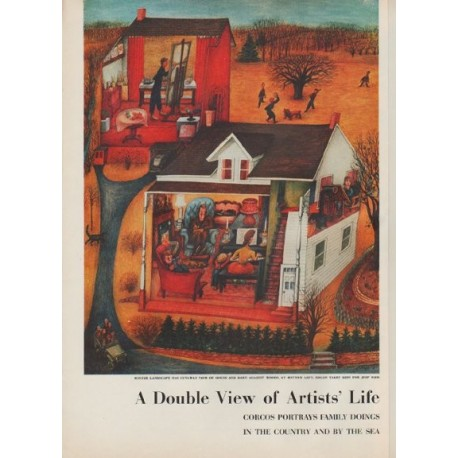 """1954 Lucille Corcos Article """"Double View of Artists' Life"""""""