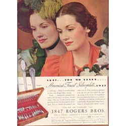 "1937 International Silver Ad ""Rogers Bros."""
