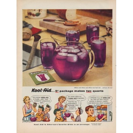 "1954 Kool-Aid Ad ""5-cent package"""