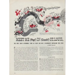 "1954 Richard Erdoes Artwork Article ""Meet Me In St. Louis"""