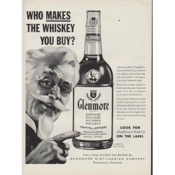 "1954 Glenmore Whiskey Ad ""Who Makes The Whiskey"""