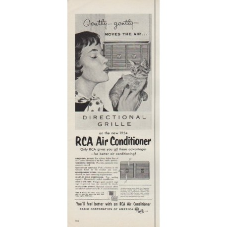 "1954 RCA Air Conditioner Ad ""Moves The Air"""